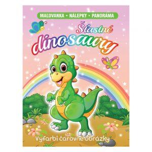 Šťastné dinosaury (Maľovanka - nálepky - panoráma)