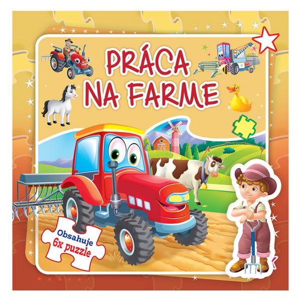 Práca na farme - Obsahuje 6x puzzle